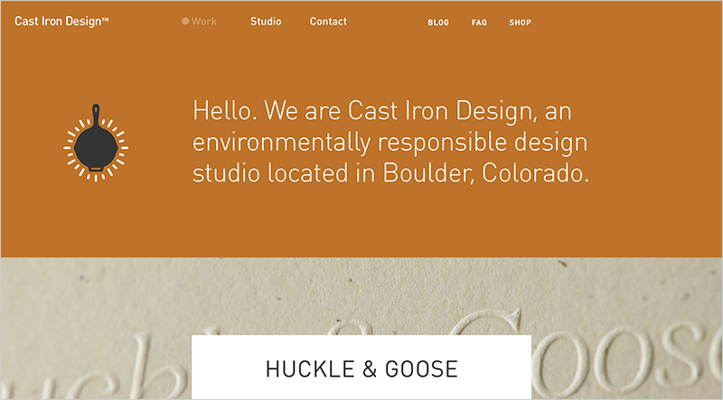 Cast Iron Design Homepage