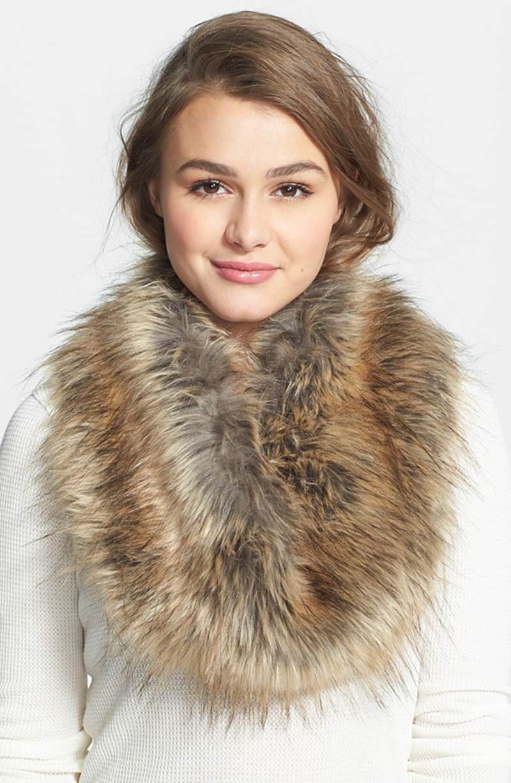 Faux Fur Infinity Scarf via Nordstrom