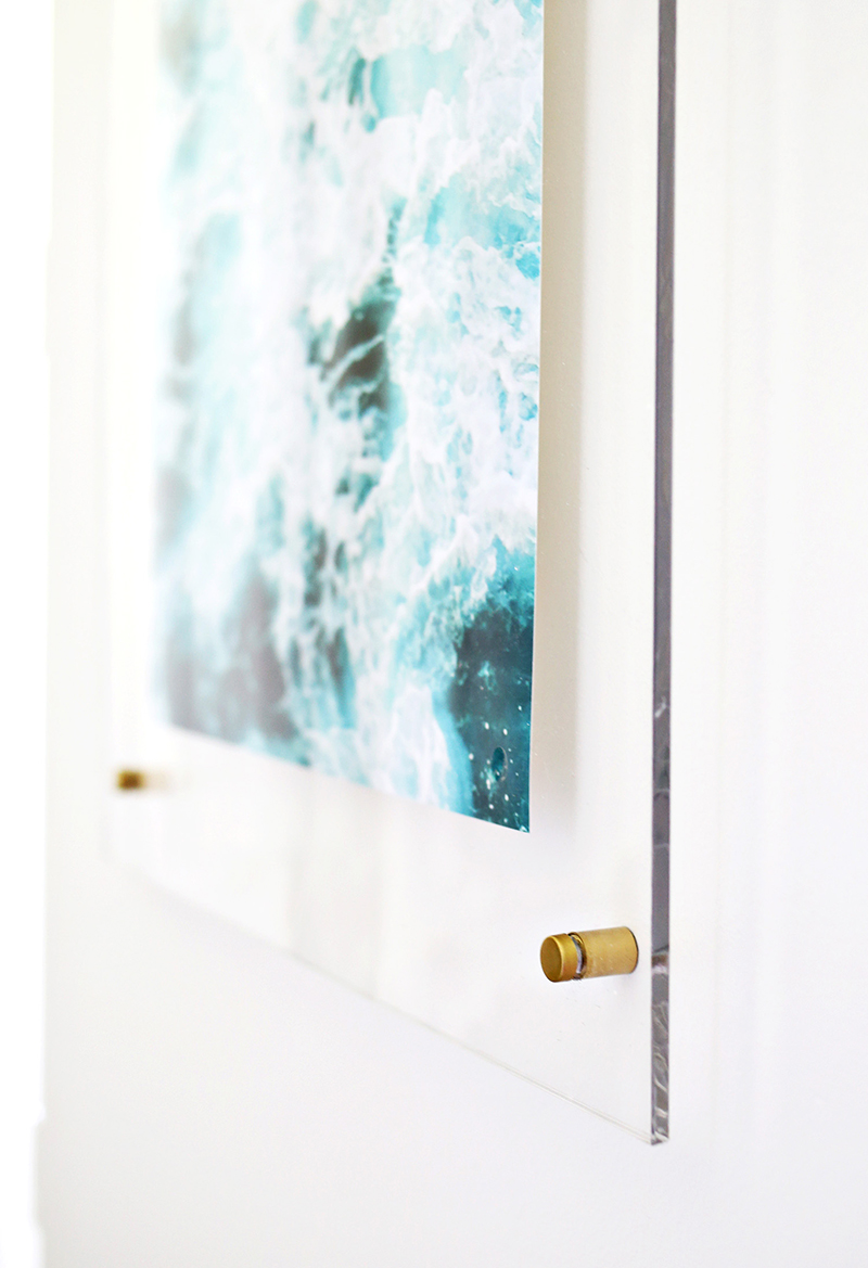 Floating Acrylic Frame DIY  by  A Beautiful Mess