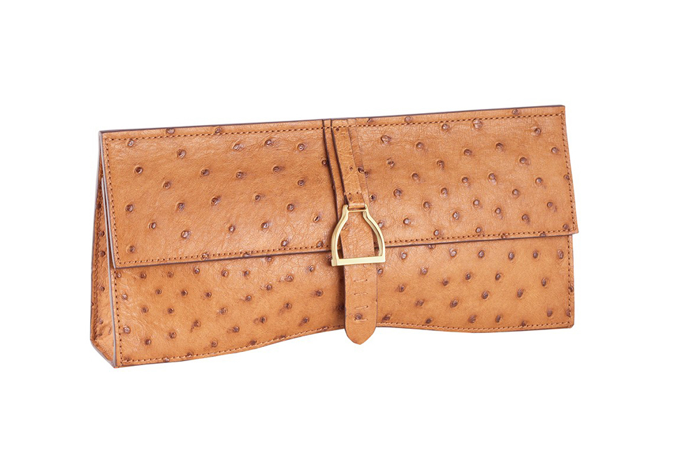 Lucchese Stirrup Clutch in Ostrich