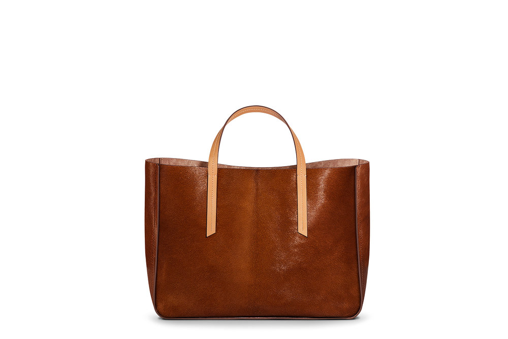 1 Atelier Universal Tote in Cognac Haircalf