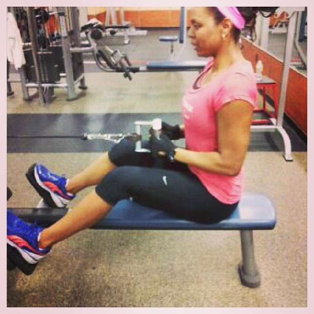 #back workout with @empowerfitchick :) #fitness #fitnessaddict #instagood #tone #sculpt #sweat #weights