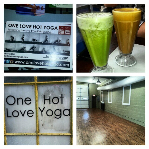 Fruit smoothies after an intense class @onelovehotyoga. #sweat #tone #strength #yoga