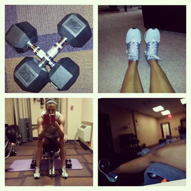 Full body #workout with #weights after spin class! #summerready #sweat #Puma #fit #fitandhealthy #fitness #arms. #legs #tone #lean