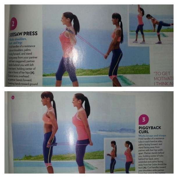 Working out with a friend made easy! Kelly Rowland and La La Anthony share tips for working out with a fitness buddy. #fitness #fitandhealthy #fit #workout #workoutdrills #shapemagazine