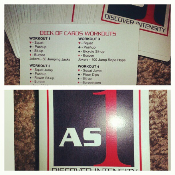 Deck of cards workout from @as1, I most certainly will be packing these for my weekend trip. #workout #workoutonthego #fitness#health #dance #sweat