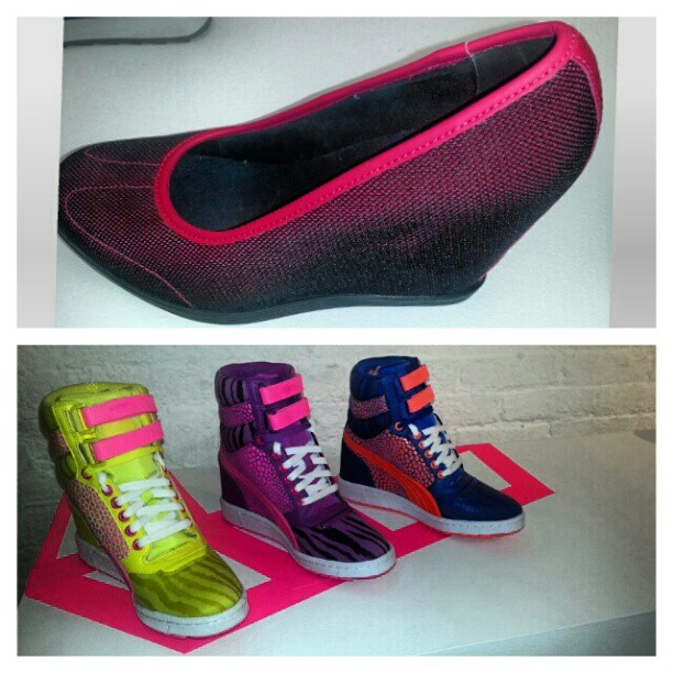 Neon this fall! #puma #fallmusthave #fitandfashionable #style #color #lifestyle #wedges #fashion