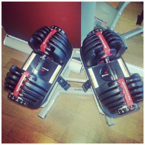 Adustable weights by @askbowflex. #bowflex #weights #tone #fitness #fitnessaddict #muscles #sculpt