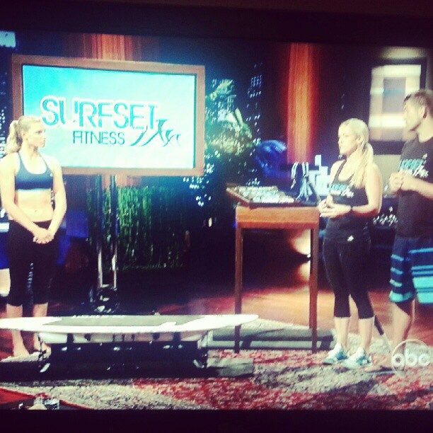 I really want to try this workout it's called #Surfset. Might be coming to New York soon they just landed a deal on #sharktank :) #surf #surfset #fitspiration #fitness #fitnessaddict #workout
