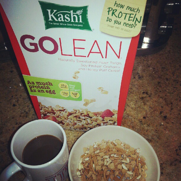 Breakfast! #kashi #food#morning #protein #healthyeating #health #fiber