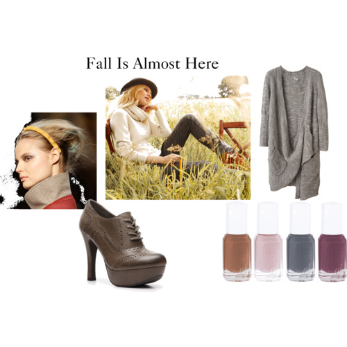 Fall is Near  by  nadiabgr  featuring  oxford high heels       VPL oversized cardigan , $395  Essie , $31  Fall Model Jeans von BOSS ORANGE im Impressionen Online Shop   Mix No. 6 oxford high heels , $45  New Hairstyles For Fall 2011 Photo 5 , $3