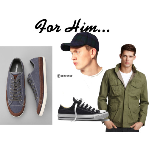 For Him…..  by  NadiaBGR  featuring a  hooded jacket       Paul Smith Jeans hooded jacket , $425  Converse trainers , £30  Fred Perry Constructed Baseball Cap , $52