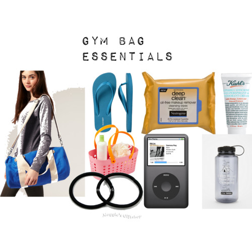 Gym Bag Essentials  by  NadiaBGR  featuring  tote hand bags       Old Navy flat heel shoes , $3.50  ASOS gym bag , $31  Tote hand bag , $9.99  Neutrogena oil free makeup wipes   Kiehl's Superbly Efficient Anti-Perspirant & Deodorant , £12  I Will Never Take This Camping Water Bottle , $15