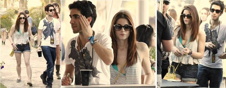 "Stylish Hollywood starlet Ashley Greene sported Paul Frank's ""My Excuse to Travel"" sunglasses while at the Coachella music festival on April 15th. These funky, vintage-inspired shades retail for $138 and are available at www.paulfrank.com."