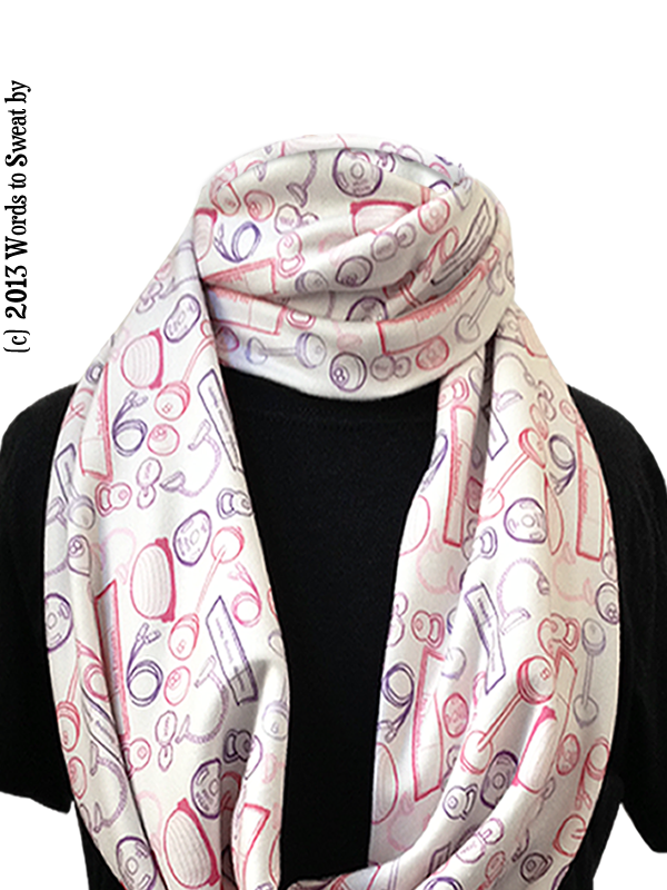 Words to Sweat By Infinity Scarf