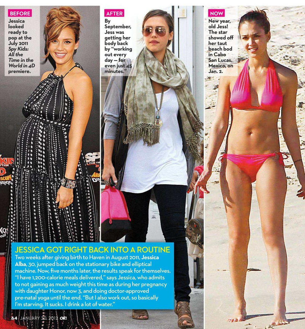 The amusing Jessica alba body information
