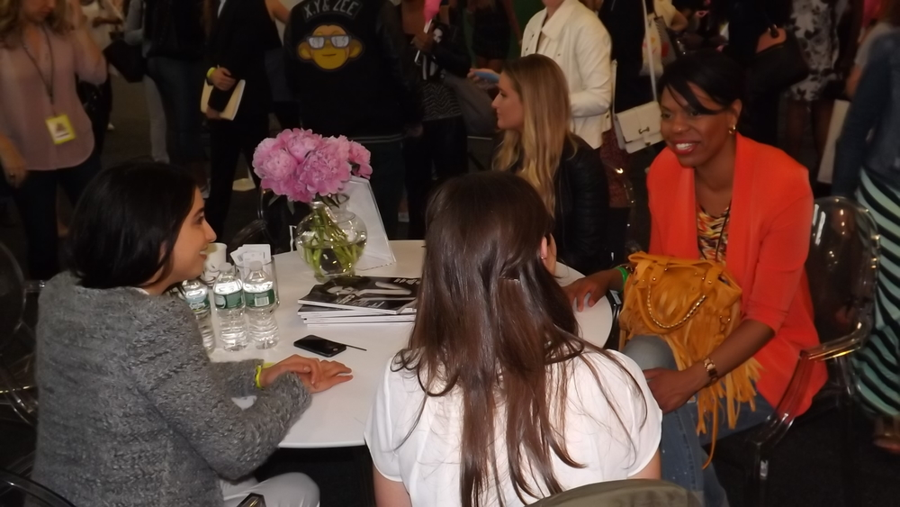 Chatting with Beauty and Fitness editors at Elle Magazine