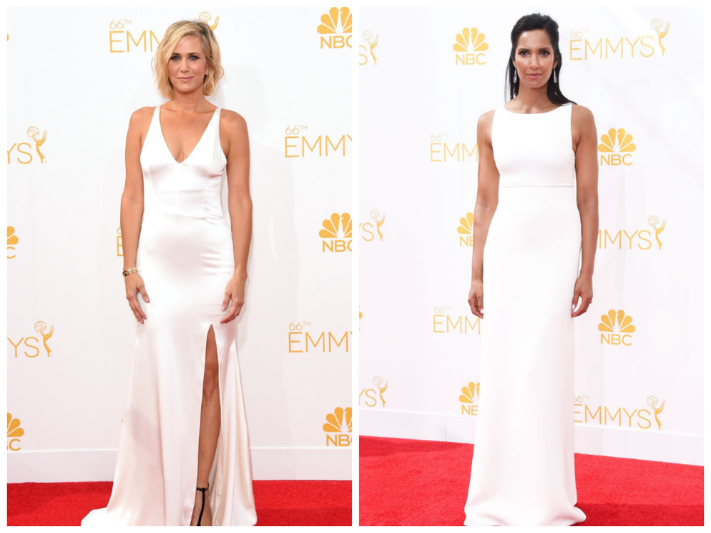 Picture courtesy http://www.eonline.com/ Kristen Wiig on the left and Padma Lakshmi on the right.