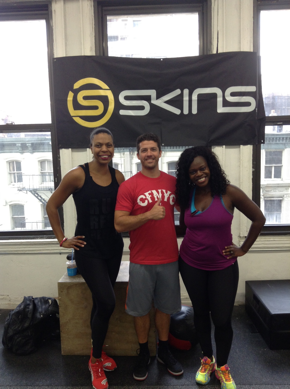 Chris gave a great class! Nadia Murdock Fit on the L, Chris Cunningham Center and Brooklyn Active Mama on the R
