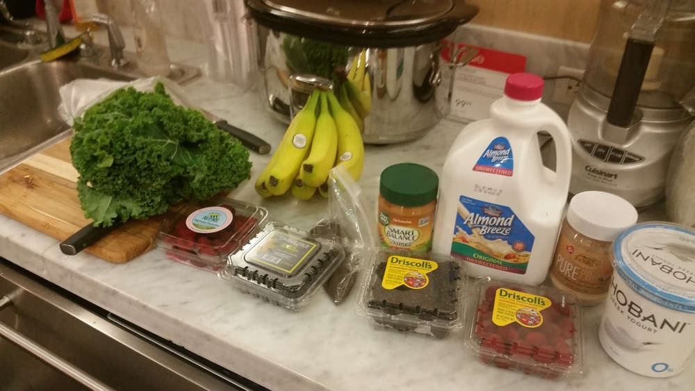 Yummy ingredients for my smoothies!