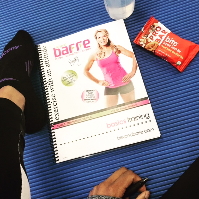 The snack options are amazing!  The  ProBar  helped me stay energized during my  Beyond Barre  training.