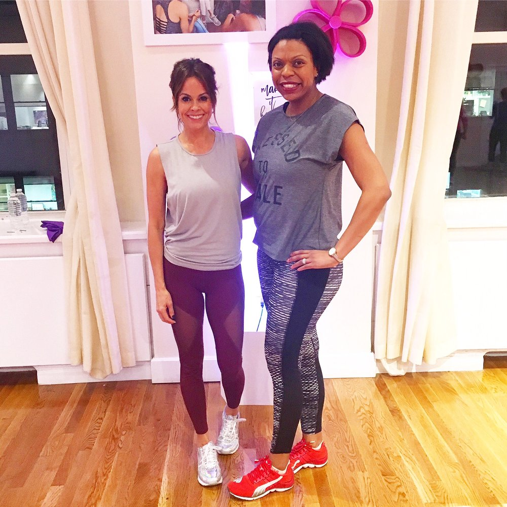 Brooke Burke-Charvet   and Nadia Murdock Fit