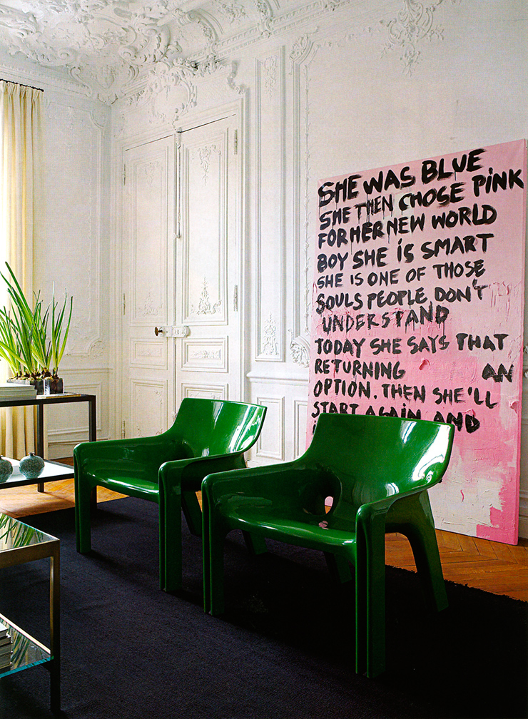 A wonderful mix of Eclecticism. Art? How abt chalk board or a hand written poem on a canvas? http://www.designbuildideas.eu/how-to-attain-an-eclectic-style-in-interior-design/