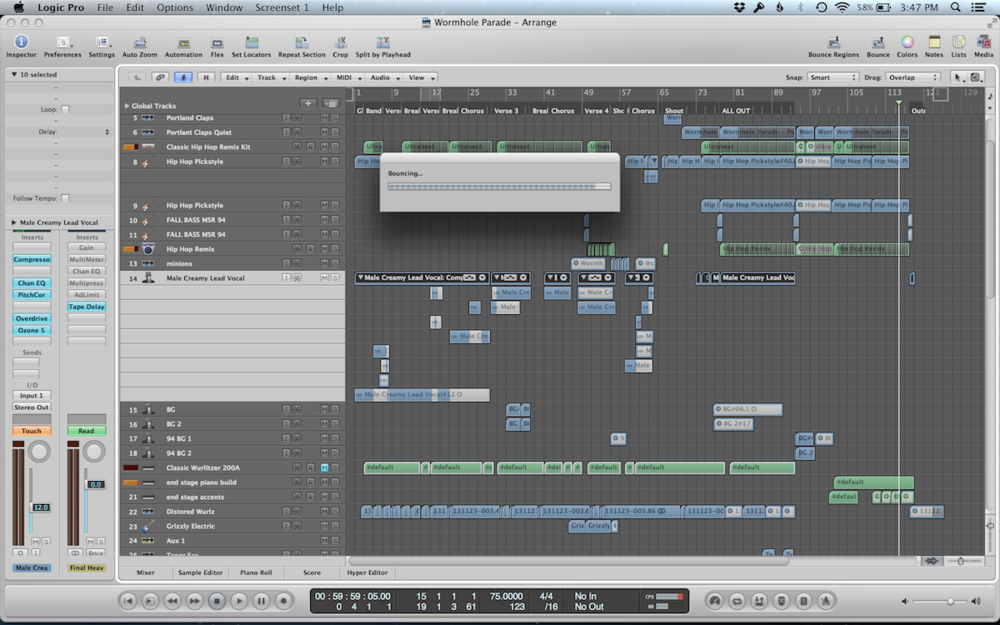 Adding De-Esser to the vocals in Song Two at the last minute because apparently I'm super-sibilant.