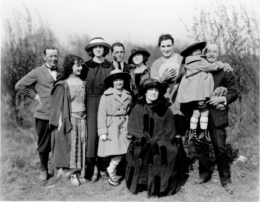 Group Shot with William Fox at Fox Studios, Hollywood (1921)