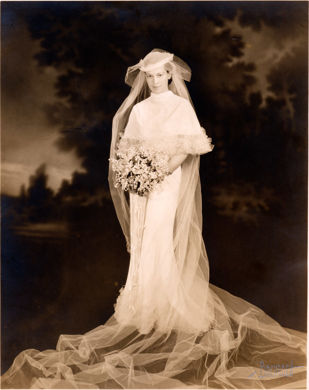 Bernice Fried Sacks - Wedding Photo. (c.1936)