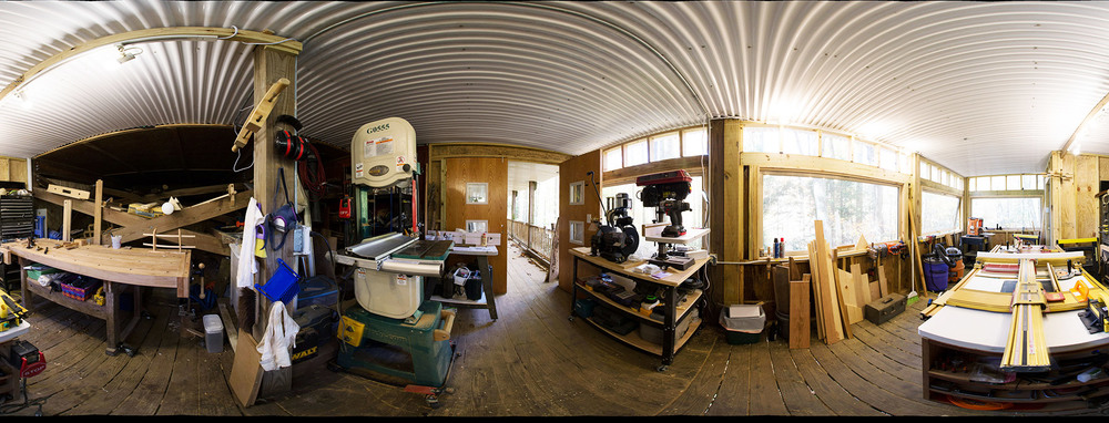 CLICK HERE OR ON IMAGE ABOVE FOR A NAVIGABLE PANORAMIC VIEW OF THE NEW WORKSHOP (Using your mouse to explore the image)...