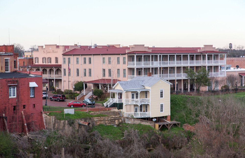 View of St. James Hotel from the Pettus Bridge, Selma, AL -- 3/15/2015
