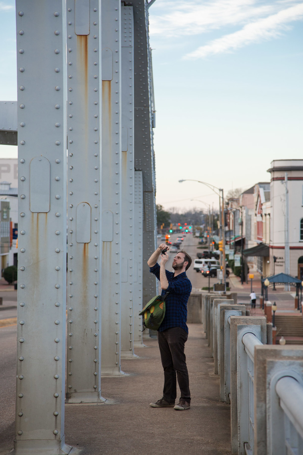 Jed on the Edmund Pettus Bridge, Selma, AL -- 3/15/2015