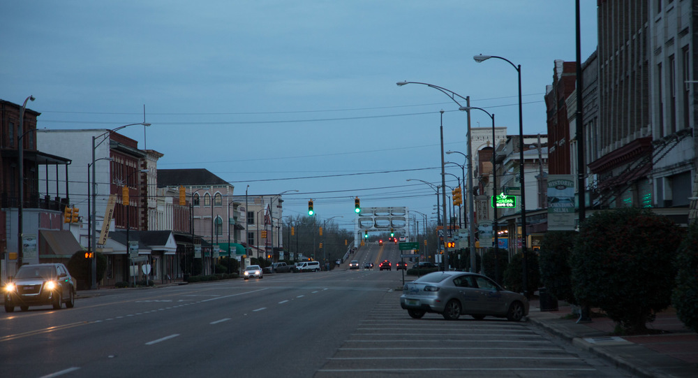 Broad Street looking toward the bridge, Selma, AL -- 3/15/2015