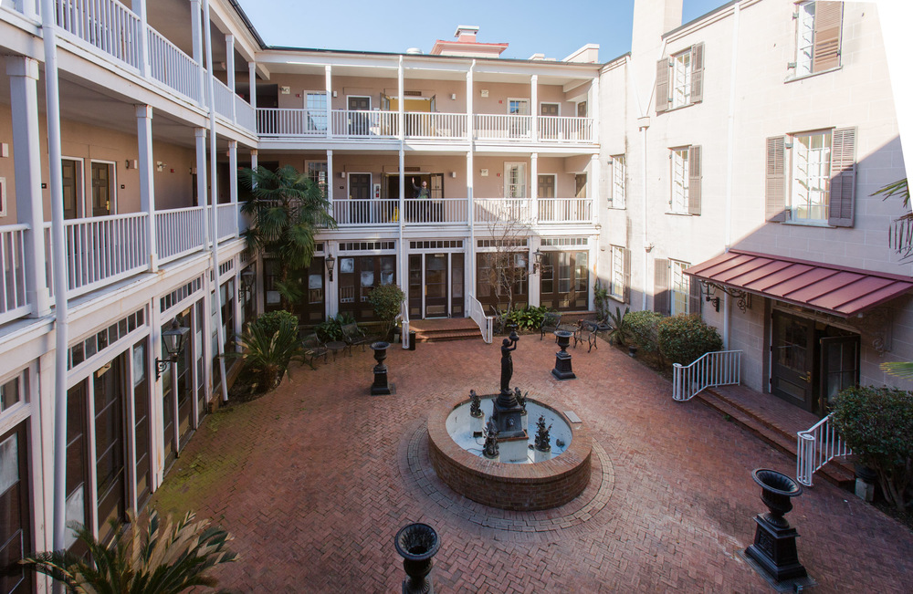 Courtyard of the St. James Hotel, Selma, AL -- 3/15/2015