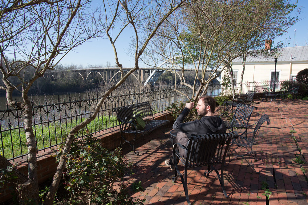 St. James Hotel Patio overlooking the river, Selma, AL -- 3/15/2015