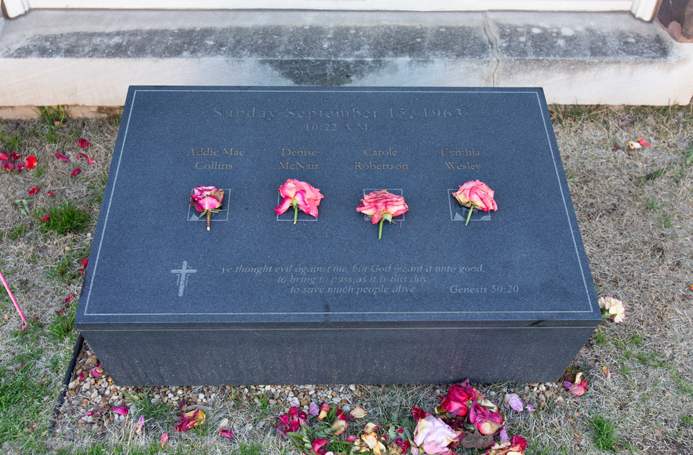 Memorial for the girls killed in the Dexter St. Church bombing, Montgomery, AL -- 3/16/2015