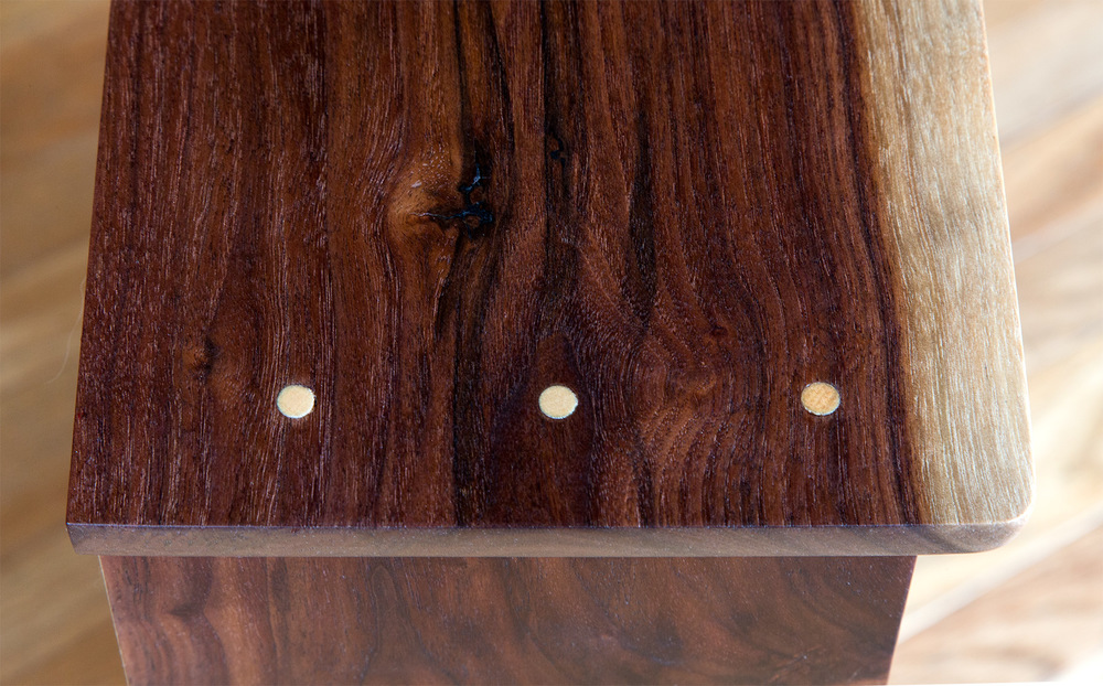 Small Live-Edge Walnut Bookcase -- Detail