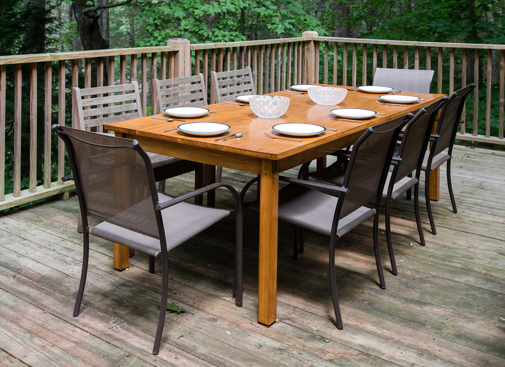 White Oak Outdoor Dining Table