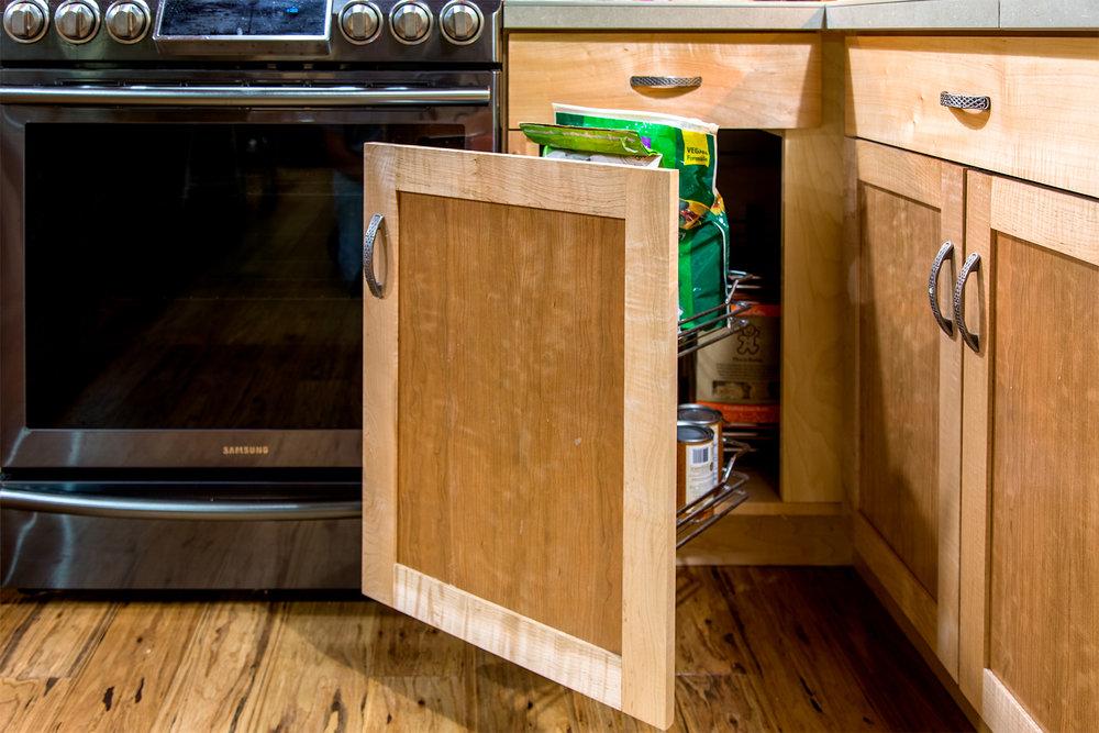 Mechanized Blind Corner Cabinet