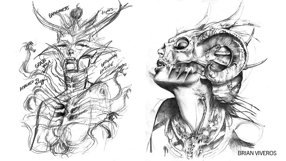 Brian Viveros, final sketches