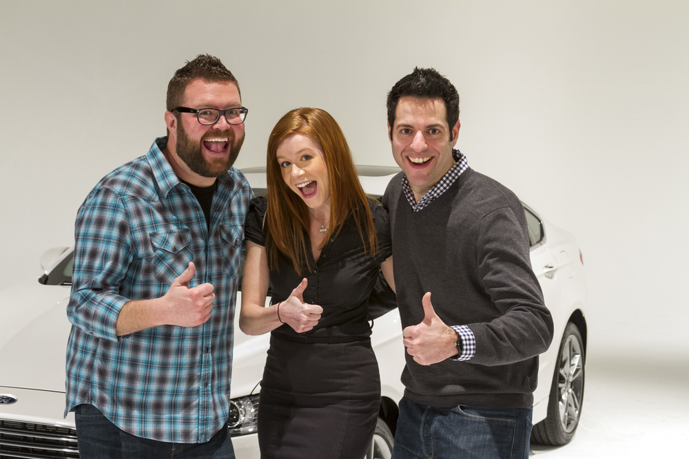 Thumbs up all around! Rutledge Wood, Mallory McMorrow, Ray Wert