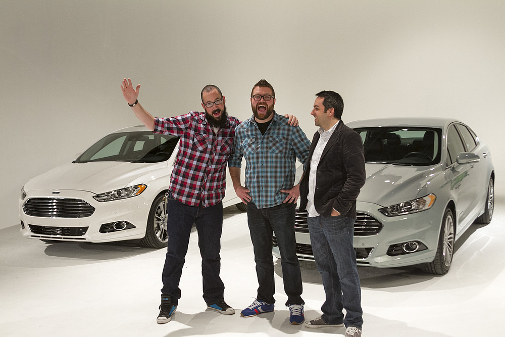 We might have tricked them into coming, but Jalopnik commenters Jon and Antonio look pretty happy at the end of their shoot with Rutledge Wood