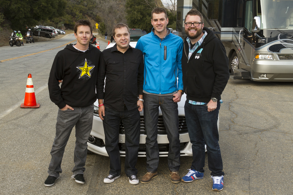 Another pair of surprised - but happy - Jalopnik commenters after shooting with Top Gear's Tanner Foust and Rutledge Wood