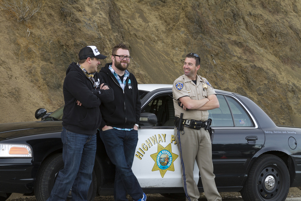 Pro tip: when shutting down Mulholland Highway for a shoot, make friends with the cops