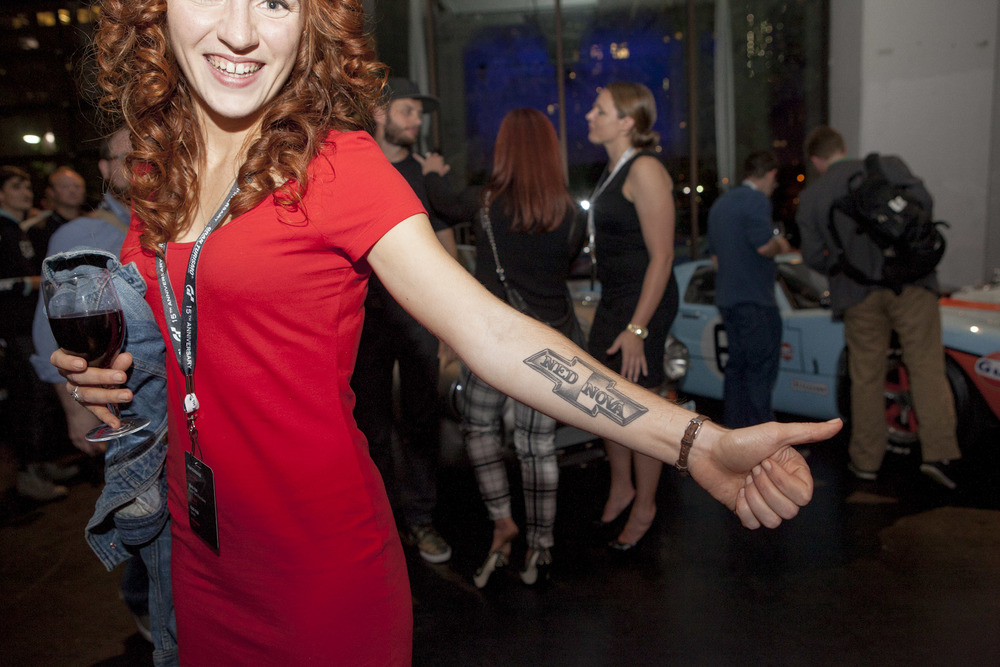 Katie of  Beauty's Got Muscle  shows off her killer Nova ink.