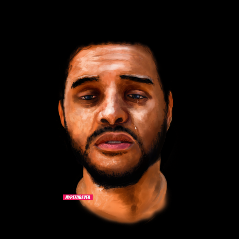 hypeforeverart :     @theweeknd by @hypeforever   final touch up.