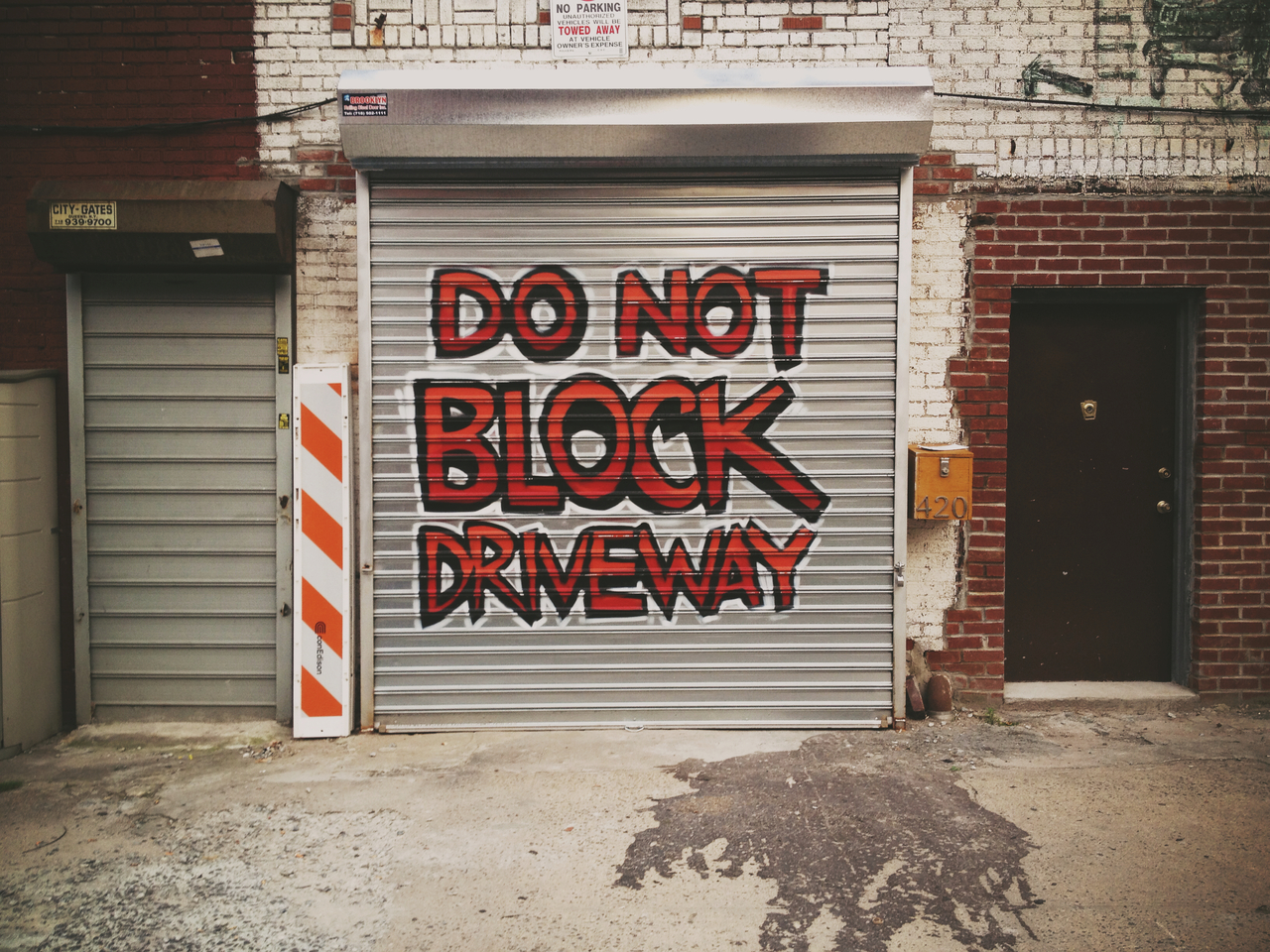 Don't Cock Block #pepper #peppersearching #brooklyn #bedstuy #graffiti #driveway #type #red #sidewalk