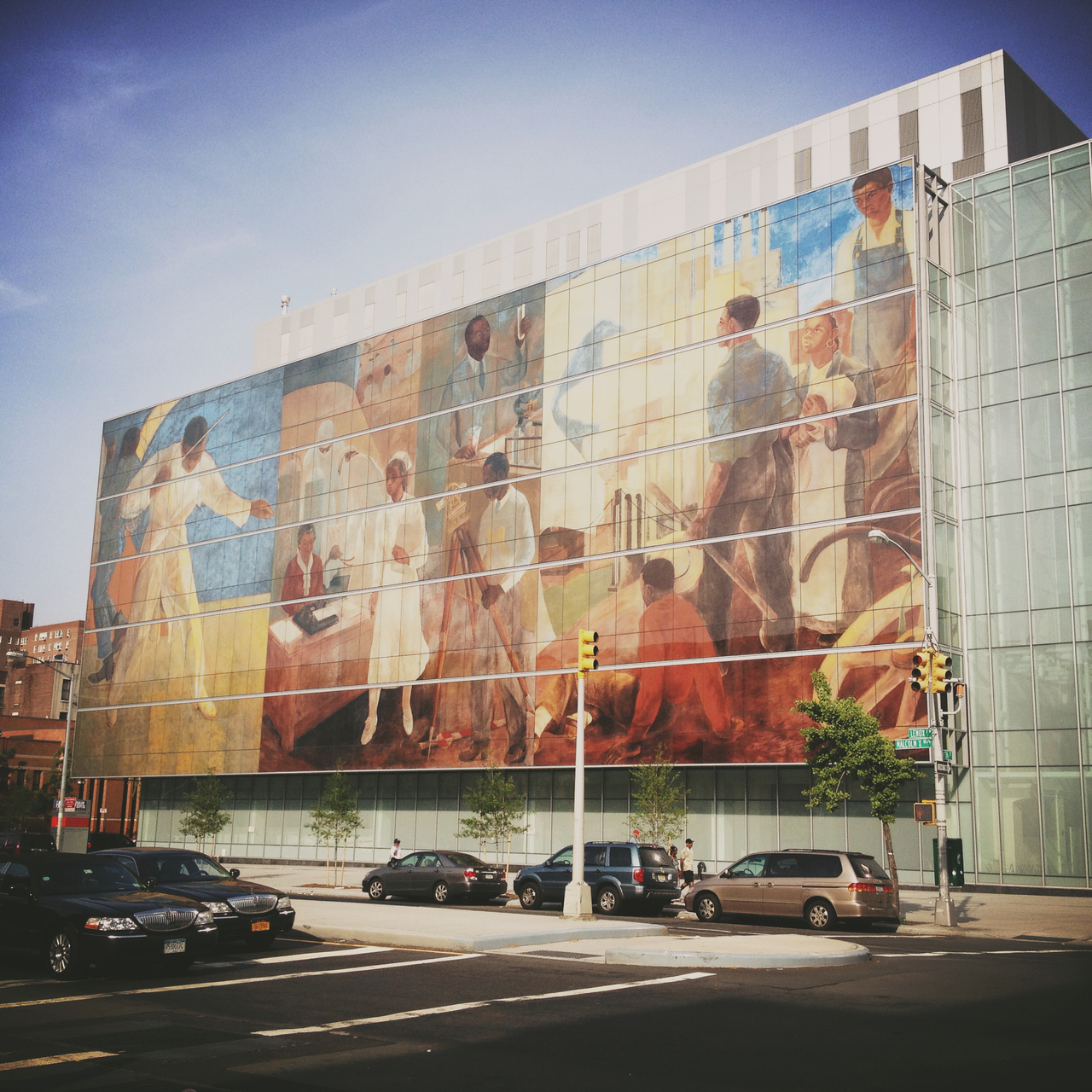 Harlem Hospital Mural #pepper peppersearching #mural #harlem #hospital #nyc #art #lenox #ave #malcolmx #blvd #blackpeople