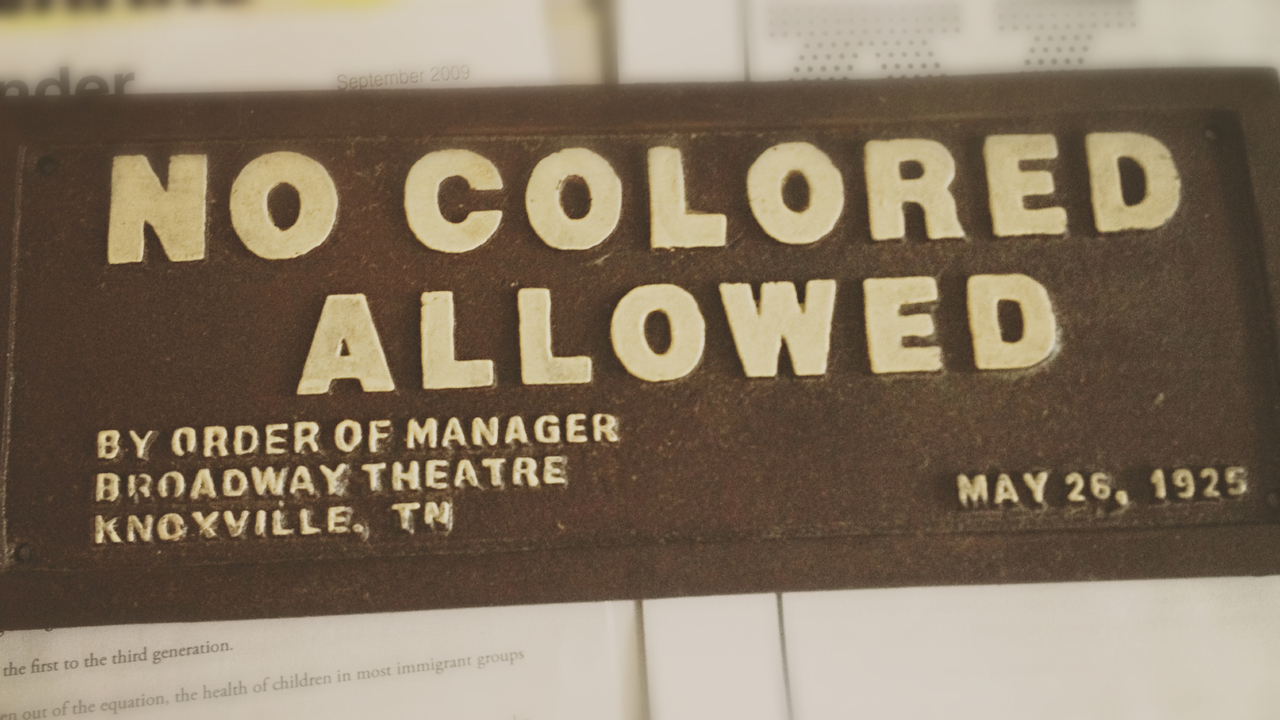 No Colored Allowed #peppersearching #pepper #photos #signage #colored #type #1925